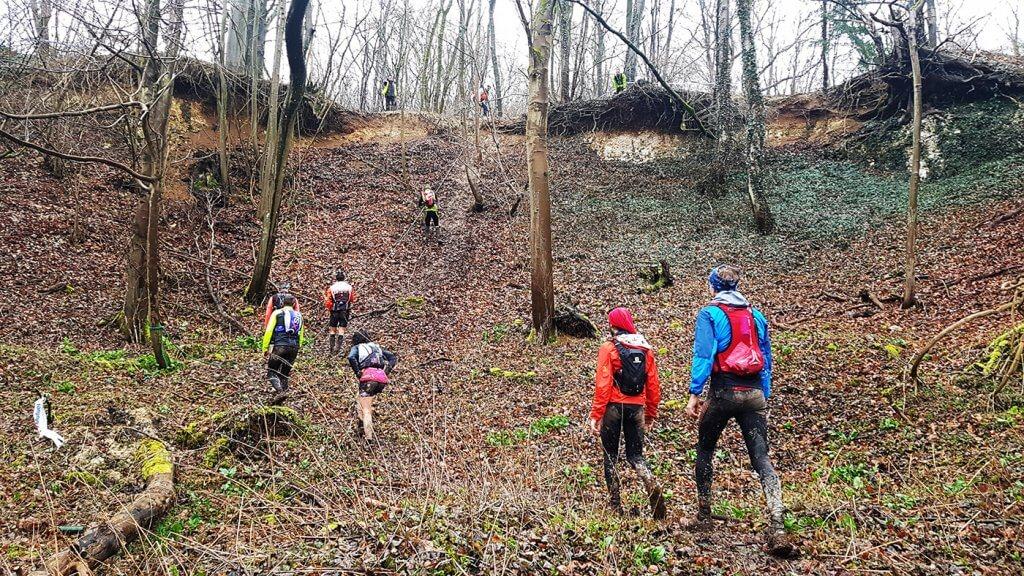 Trail des Poilus - corde