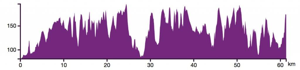 Dénivelé Trail des poilus 62km