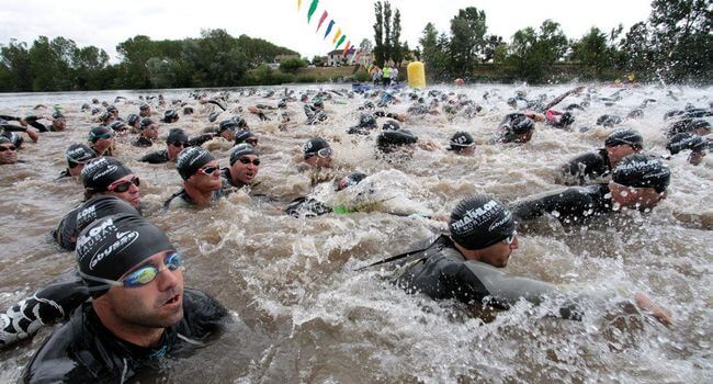 départ natation triathlon