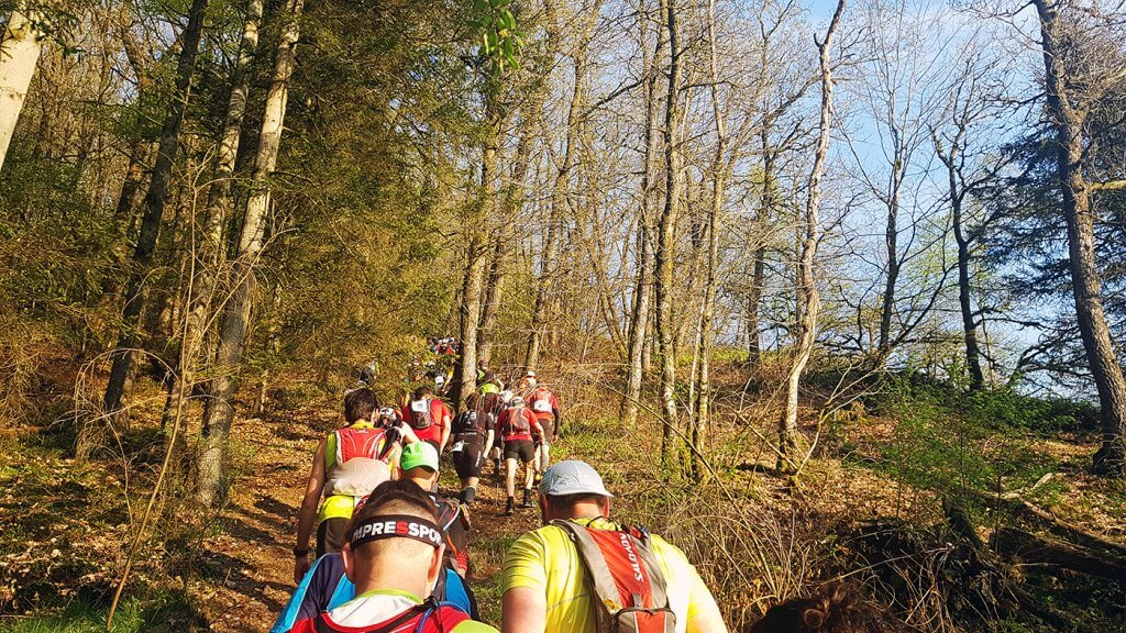 Trail La Bouillonnante - Première montée