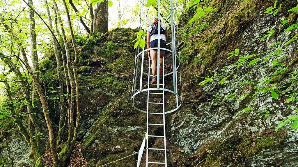 Trail La Bouillonnante - Échelle